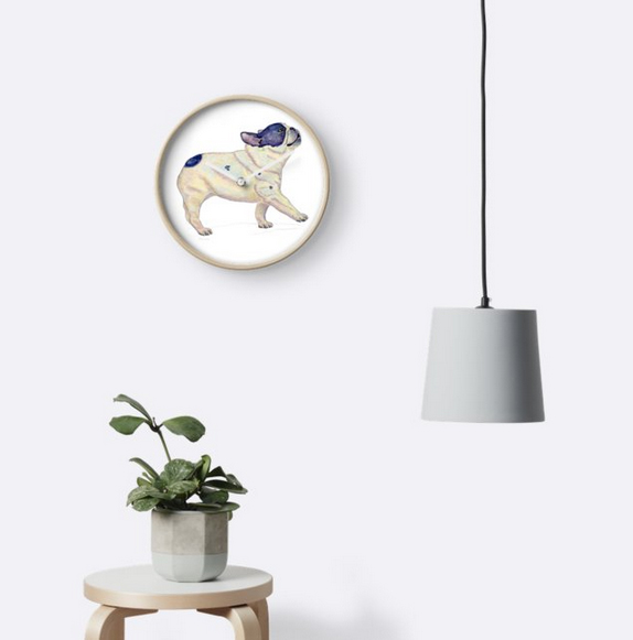French Bulldog Clock Redbubble