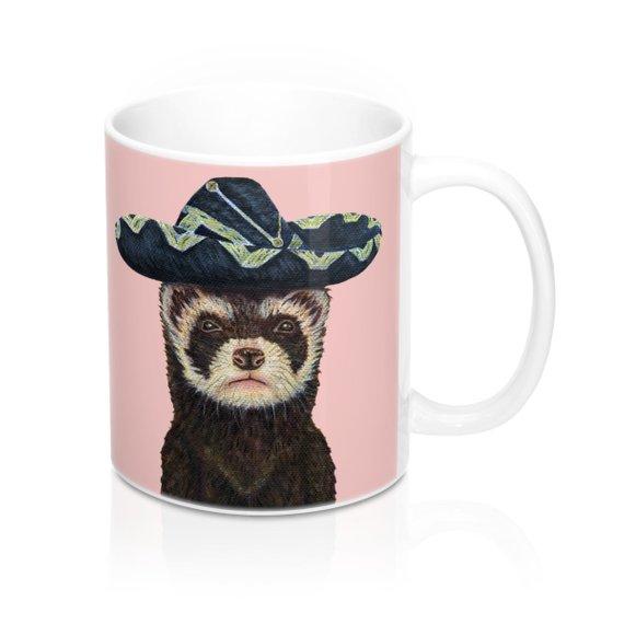 ferret mug pink